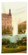 Der Deutsche Ring-cologne-the Rhine-germany -  Between 1890 And  Beach Towel