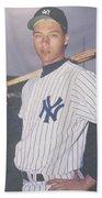 Derek Jeter New York Yankees Beach Towel