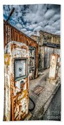 Derelict Gas Station Beach Towel by Adrian Evans