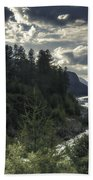 Desaturated Mountainscape Beach Towel