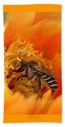Desert Bee Beach Towel