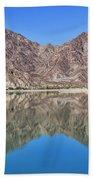 Desert Lake Stillness Beach Towel