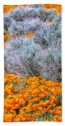 Desert Poppies And Sage Beach Towel