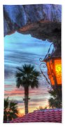 Desert Sunset View Beach Towel