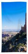 Desert View Watchtower Overlook Beach Towel