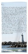 Desiderata Santa Cruz Lighthouse Beach Towel