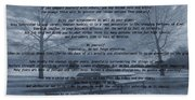 Desiderata Winter Scene Beach Sheet