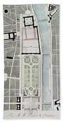 Design For Joining The Tuileries To The Louvre, 1808 Wc On Paper Beach Towel