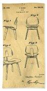 Designs For A Eames Chair Beach Towel by Edward Fielding