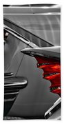Desoto Red Tail Lights In Black And White Beach Towel