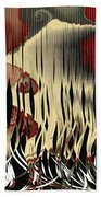 Destruction Of The Earth Abstract Beach Towel