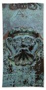 Detail Of A Bronze Mortar Beach Towel