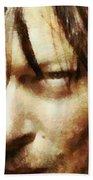 Detail Of Daryl Dixon  Beach Towel