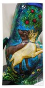 Detail Of Hunt For The Unicorn On A Full Moon Beach Towel by Genevieve Esson