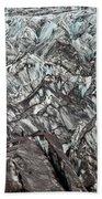 Detail Of Icelandic Glacier Beach Towel