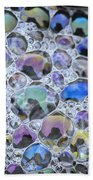 Detail Of Rainbow-colored Bubbles Beach Towel