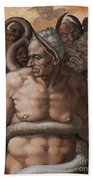 Detail Of The Last Judgment Beach Towel by Michelangelo