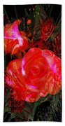 Detailed Roses Beach Towel