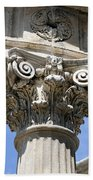 Detailed View Of Corinthian Order Column Beach Towel