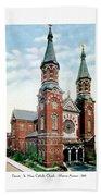 Detroit - St Mary Catholic Church - Monroe Avenue - 1910 Beach Towel