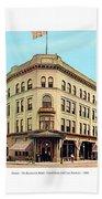 Detroit - The Cadillac Hotel - Cadillac Boulevard And Michigan Avenue - 1918 Beach Towel