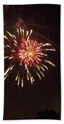 Detroit Area Fireworks -1 Beach Towel