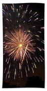 Detroit Area Fireworks -10 Beach Towel
