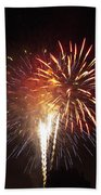 Detroit Area Fireworks -2 Beach Towel