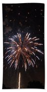 Detroit Area Fireworks -5 Beach Towel