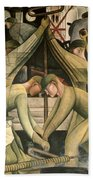 Detroit Industry  South Wall Beach Towel by Diego Rivera