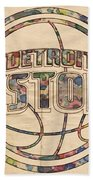 Detroit Pistons Poster Art Beach Towel