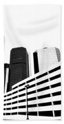 Detroit Ren Cen Beach Towel