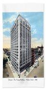 Detroit - The Kresge Building - West Adams Street - 1918 Beach Towel