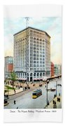 Detroit - The Majestic Building - Woodward Avenue - 1900 Beach Towel