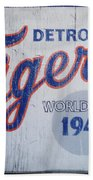 Detroit Tigers Wold Series 1945 Sign Beach Towel