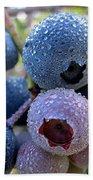 Dewy Blueberries Beach Towel