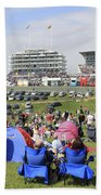 Diamond Jubilee Weekend At The Derby Horse Race On Epsom Downs  Beach Towel