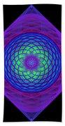 Diamond Swirl Beach Towel by Sandy Keeton