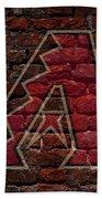 Diamondbacks Baseball Graffiti On Brick  Beach Towel by Movie Poster Prints