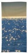Diamonds On The Ocean Beach Towel