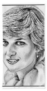 Diana - Princess Of Wales In 1981 Beach Towel