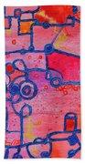 Dichotomy  Original Abstract Oil Painting By Regina Valluzzi Beach Towel