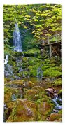Dickson Falls In Fundy Np-nb Beach Towel