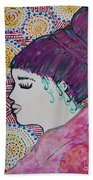 Did You See Her Hair Beach Towel by Jacqueline Athmann