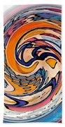 Digital Dunkin Beach Towel by Sarah Loft