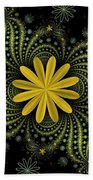 Digital Flowers Beach Towel