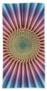 Digital Mandala Flower Beach Towel