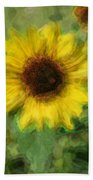 Digital Painting Series Sunflower Beach Towel