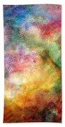 Digital Watercolor Abstract Beach Towel