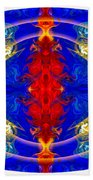 Dimensional Eyesight Abstract Living Artwork By Omaste Witkowski Beach Towel